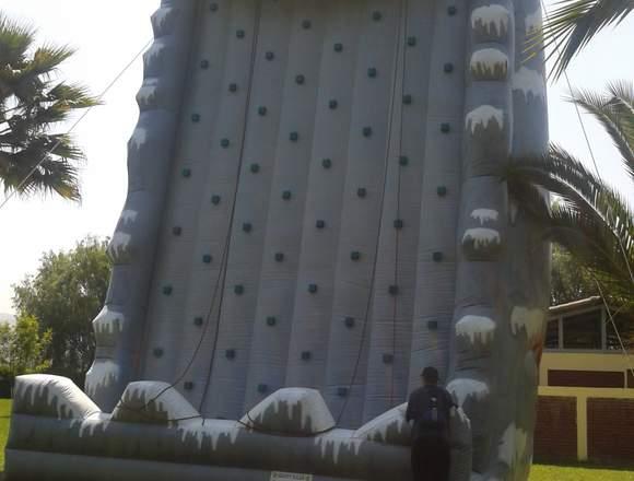 Muro de escalada inflable e 10 metros de alto