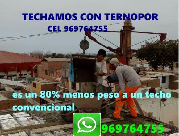 INSTALAMOS TECHO DE TERNOPOR CEL 969 764 755