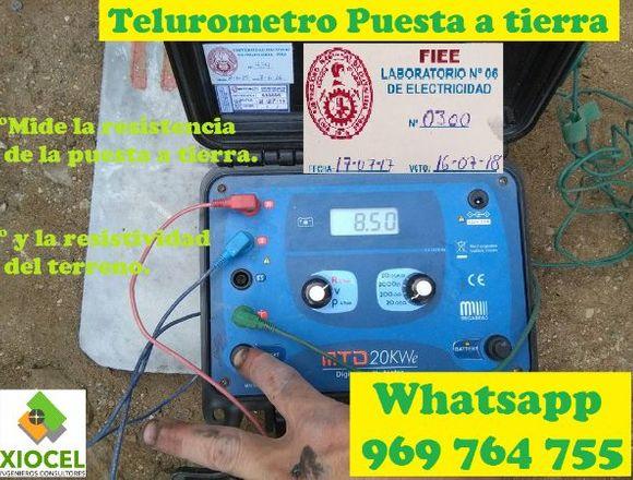 ALQUILER TELUROMETRO CERTIFICADO CEL 969 764 755
