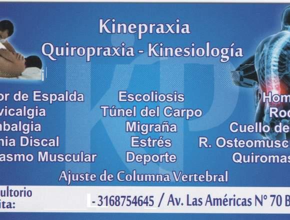 kinepraxia: centro quiropractico y kinesiologo