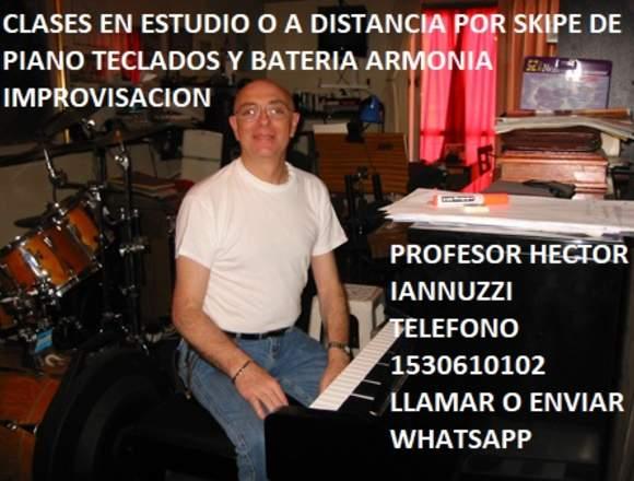 CLASES DE PIANO TECLADOS Y BATERIA EN CABALLITO
