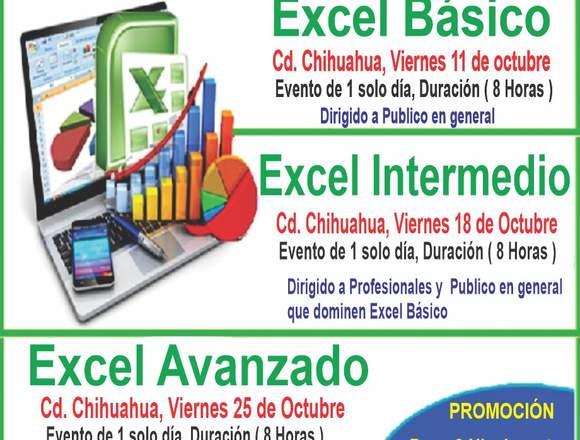 Cursos de Excel (Básico, Intermedio y Avanzado)