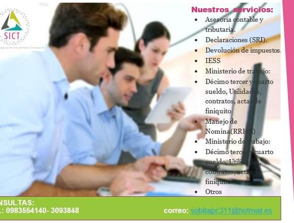 Servicios de contabilidad y tributacion