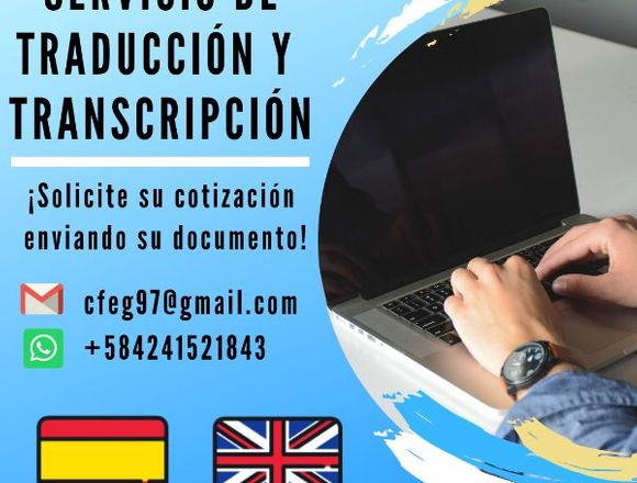 Servicio de traducción y transcripción ESP - ING