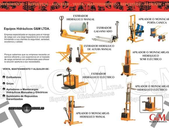 Venta y servicio de mantenimiento eq. hidráulicos