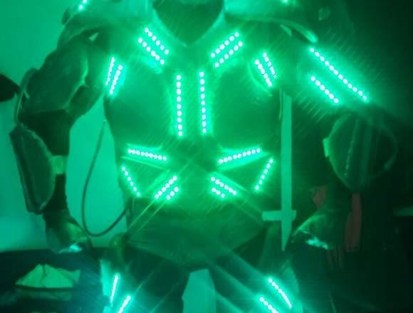 Robot Led, Dj, Fiesta de Espuma