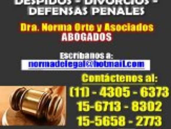 Abogados divorcios despidos penal,etc 4305-6373