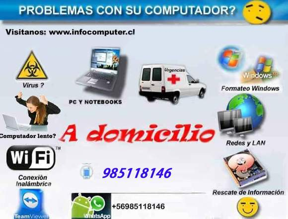 Formateo de notebook y pc a domicilio