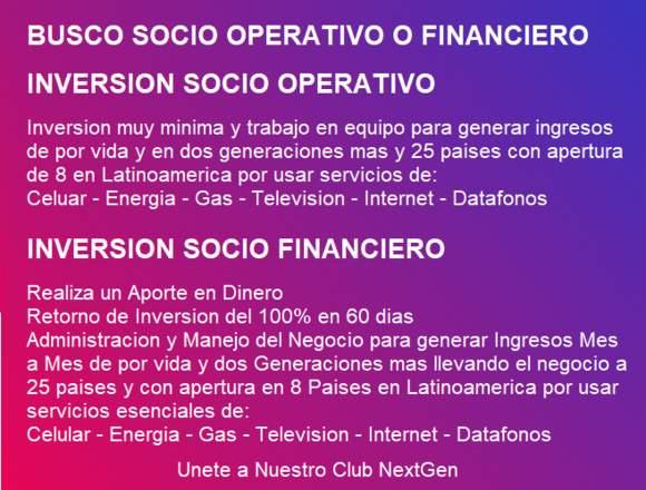 Busco Socio Operativo y Financiero