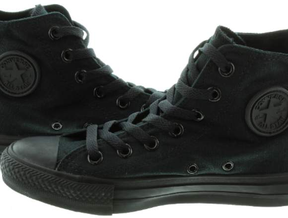converse tennis full color negro