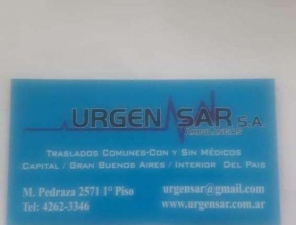 Traslados ambulancias Urgensar