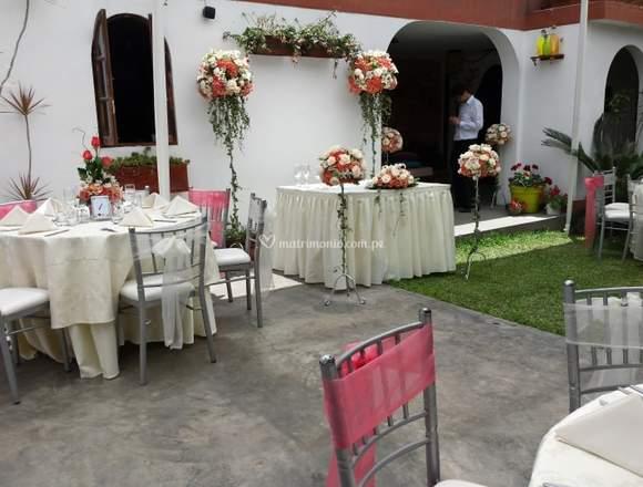 Alquiler de casa con jardin para eventos
