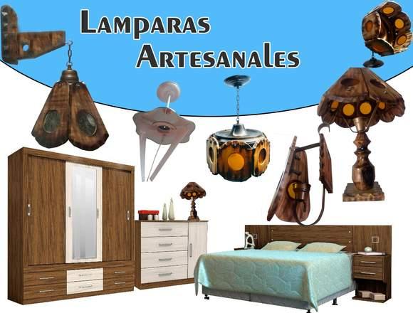 Venta de lamparas artesanales y rusticas