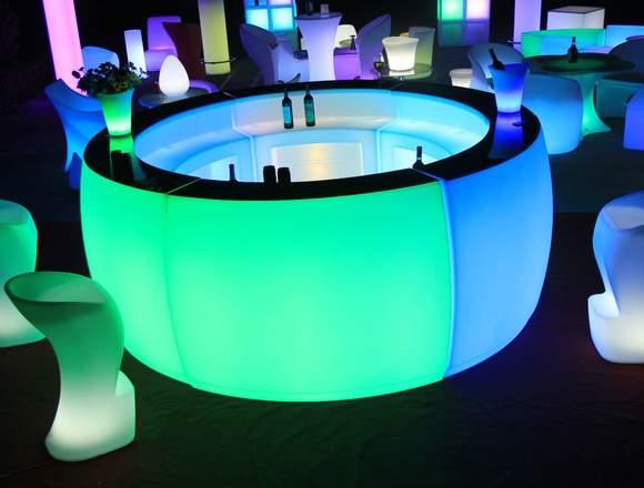 Alquiler barras cocteleras LED