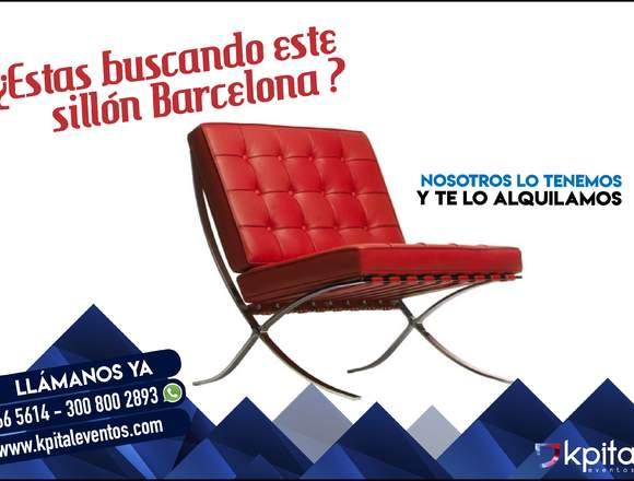 Alquiler poltrona barcelona ROJA