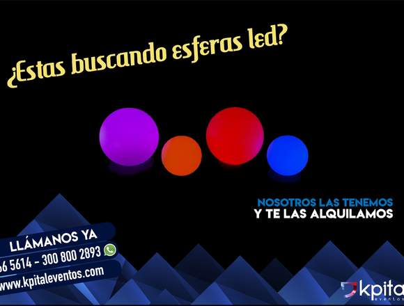 Alquiler de esferas LED
