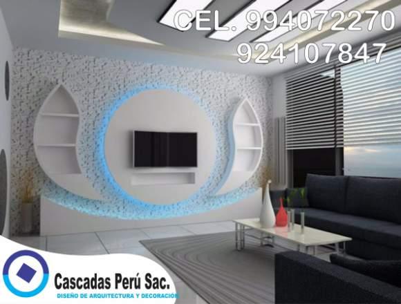 muebles de tv minimalista para decoración