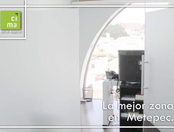 TU OFICINA EQUIPADA EN LA MEJOR ZONA DE METEPEC!!