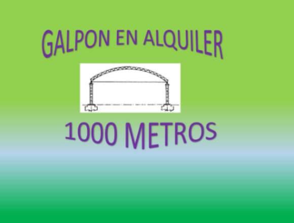 EXCELENTE GALPON PARA ALMACENAR MERCADERIA
