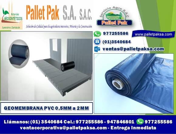 GEOMEMBRANA PVC 0.5MM, 0.75MM, 1MM , 1.5MM