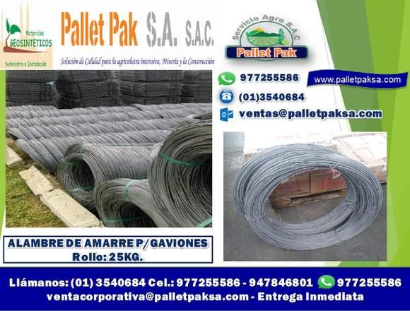 ALAMBRE DE AMARRE P/GAVIONES ROLLOS DE 25KG.
