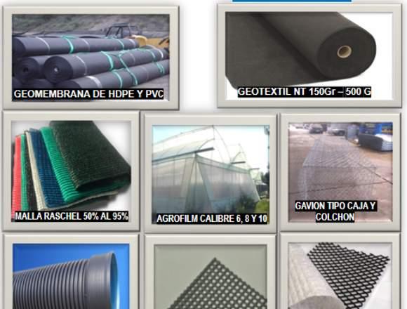 Venta e Instalación de Materiales Geosinteticos