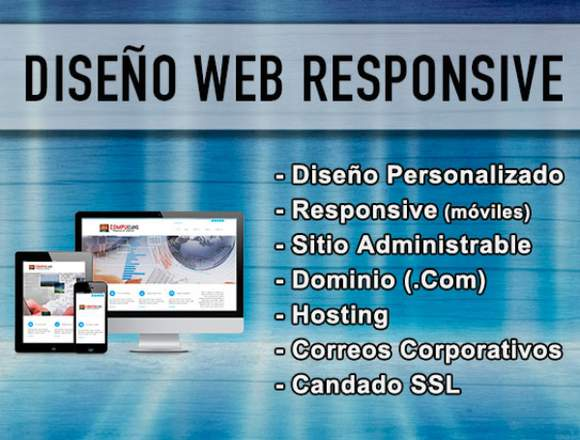 Diseño Paginas web con Todo Incluido