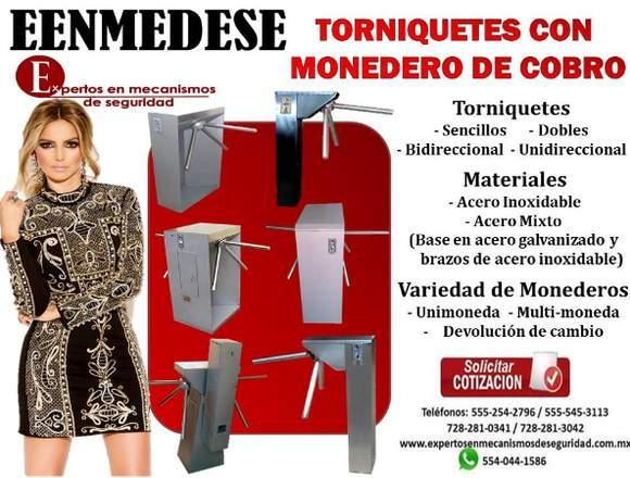 TORNIQUETES CON MONEDERO DE COBRO EENMEDESE