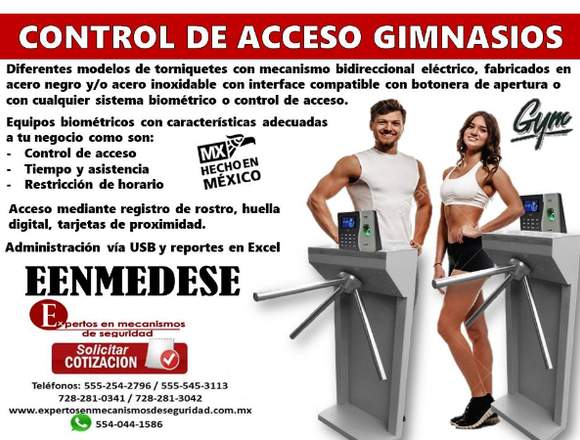 CONTROL DE ACCESO PARA GIMNASIOS EENMEDESE