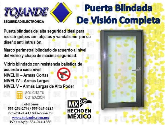 PUERTA BLINDADA DE VISIÓN COMPLETA TOJANDE