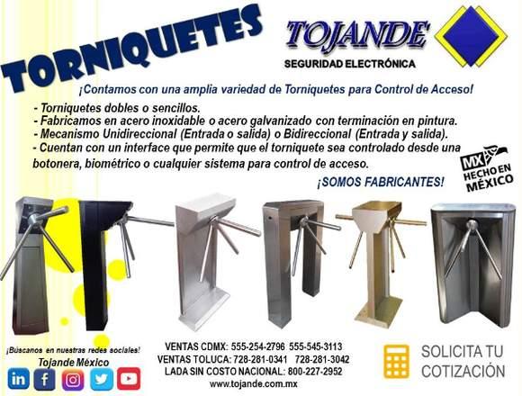 TORNIQUETES PARA CONTROL DE ACCESO TOJANDE