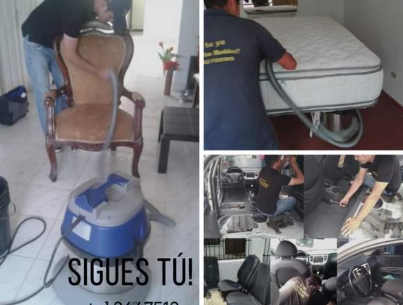 mantenimiento y lavado de muebles en tela y cuero