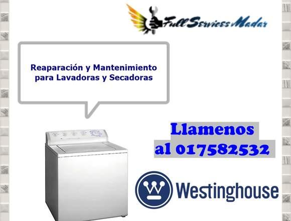 LAVADORAS SERVICIO TECNICO WESTINGHOUSE