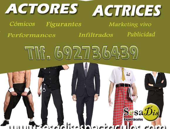 Artistas, actores marketing y publicidad