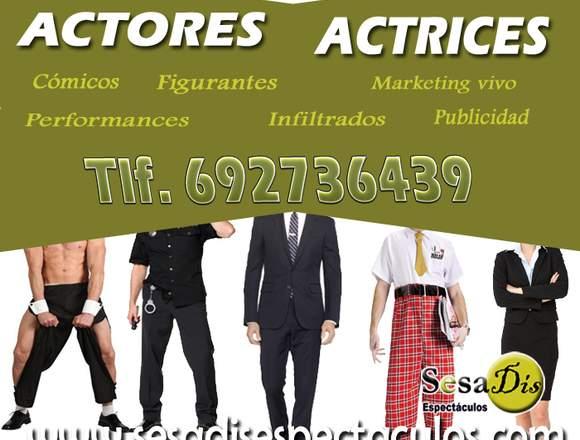 Artistas, actores marketing y publicidad