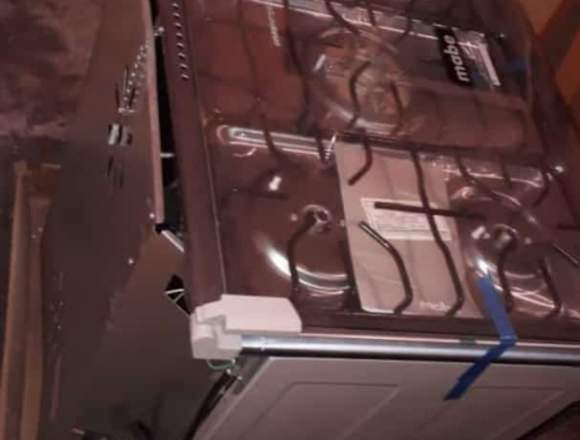 cocina MABE 5 hornilla acero inoxidable totalmente