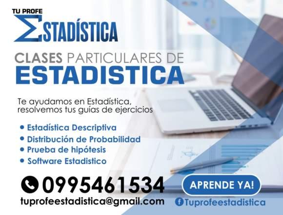 Clases de Estadística en Quito.
