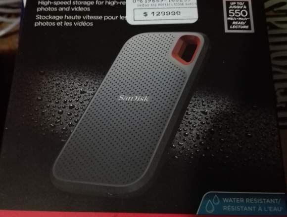 Sandisk Extreme ultra portable 500gb.
