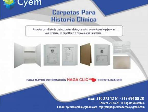 CARPETAS PARA ARCHIVO DE HISTORIA CLINICA