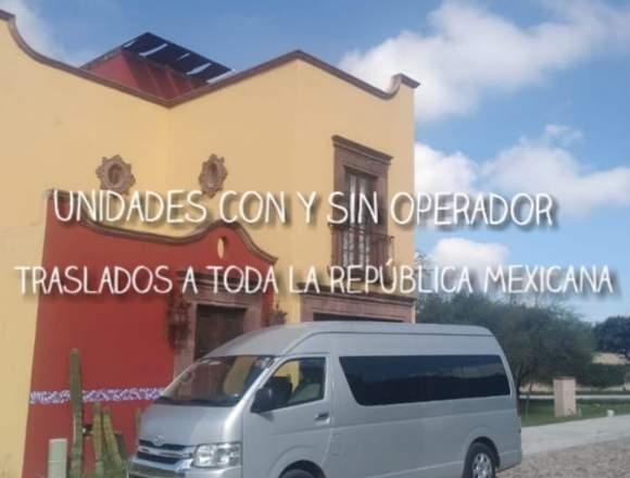RENTA DE CAMIONETAS TURISTICAS