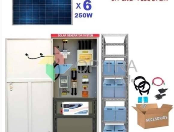 Kit Full Solar 1.500w Plug and Play Off Grid