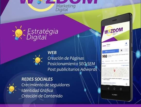 Creacion de pagina web y manejo de redes