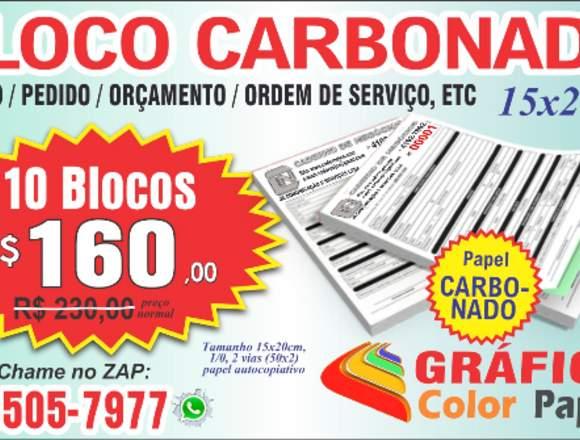 Bloco de Recibo 15x20cm CARBONADO