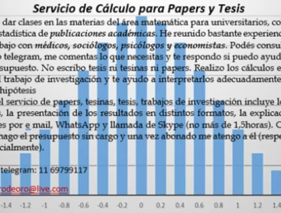 Servicio de cálculo para tesis, tesinas y papers