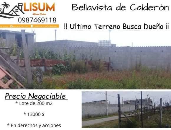TERRENO VENTA – BELLAVISTA DE CALDERON