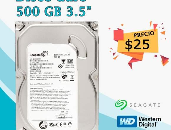 Disco duro 500 gb  con garantia