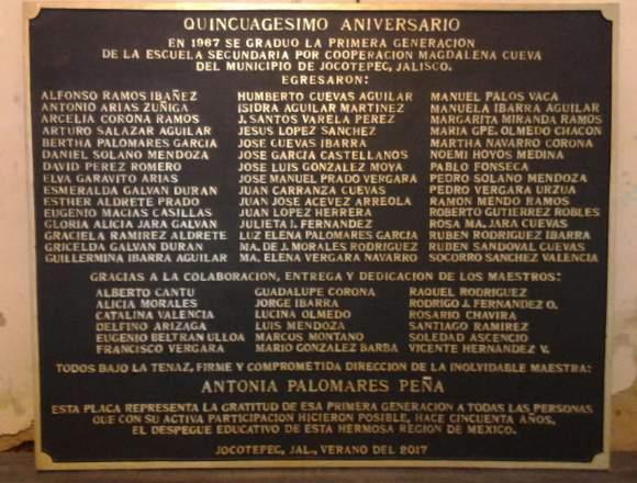 Placas conmemorativas fundidas