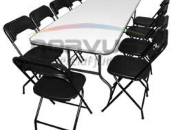 Paquete de mesa y sillas banqueteras