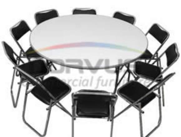 Vendo mesas y sillas para el alquiler