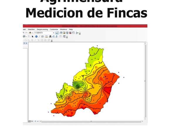 Agrimensura-Medición de fincas y terrenos pequeño.